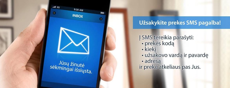 Užsakykite prekes SMS pagalba